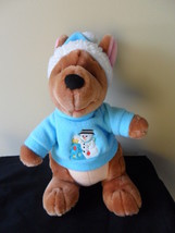 "Roo Winnie the Pooh  Plush Stuffed Animal Christmas Holiday Snowman Winter 11"" T image 3"