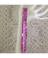 Purple Mother of Pearl Shell Beads 16mm 1 16 in. str. 26 pc. - $2.85