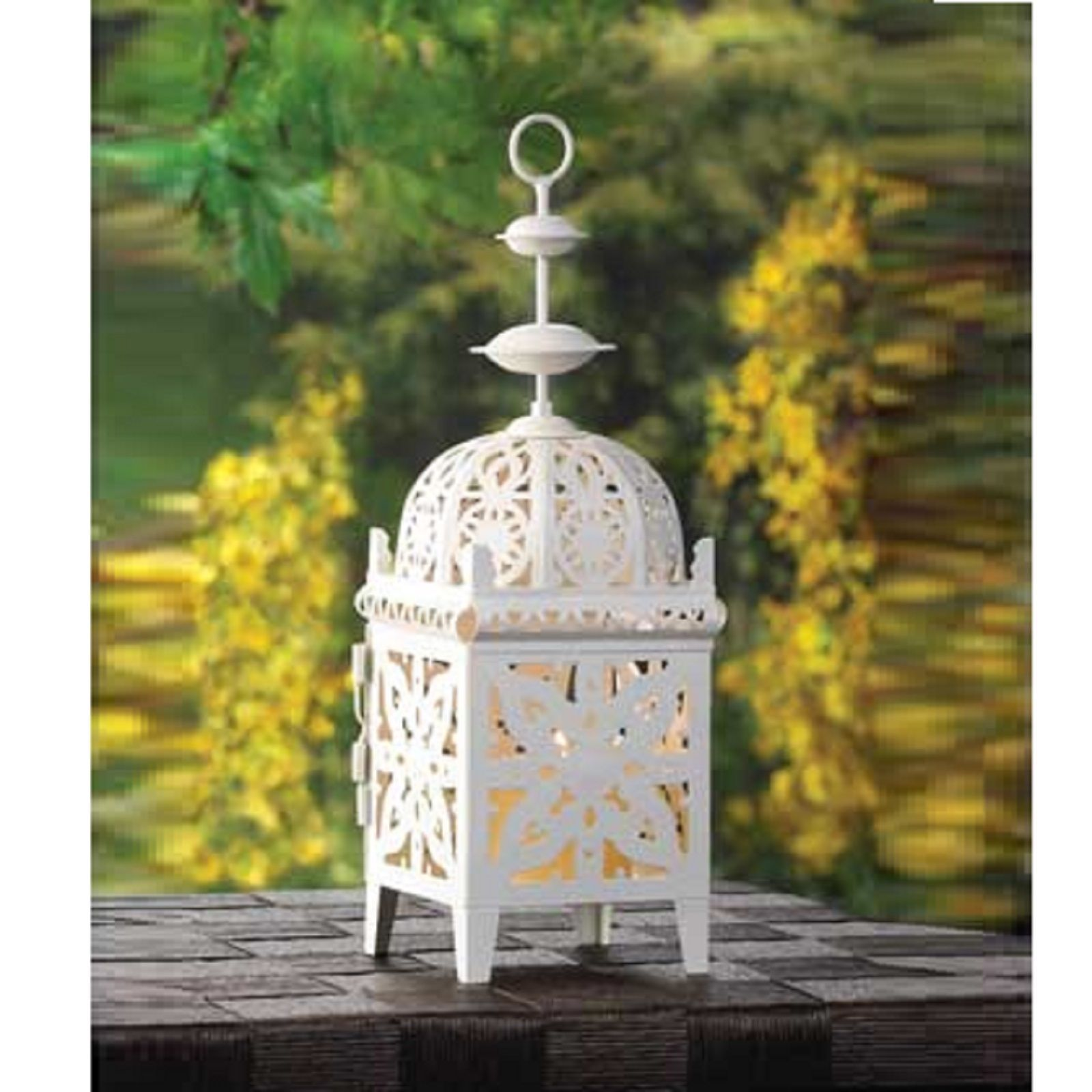 10 CREAMY WHITE Small Candle LANTERN Wedding CENTERPIECES