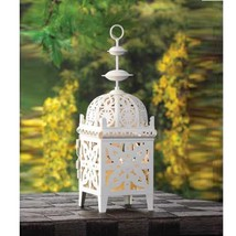 10 CREAMY WHITE Small Candle LANTERN Wedding CENTERPIECES - $58.95
