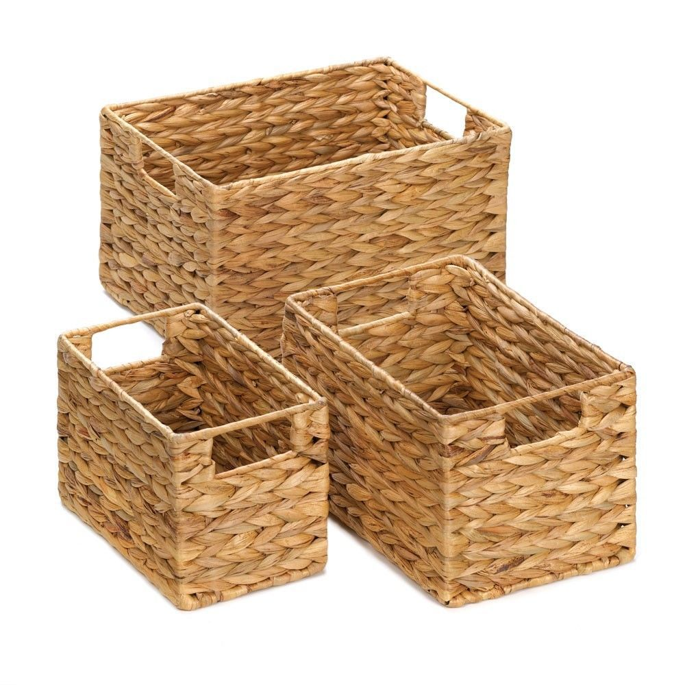 Storage Basket Nesting Baskets - Lot Of 3 Great Gift Set - New