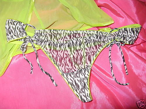 Milili zebra pole stripper dancer baby doll panties set M image 2