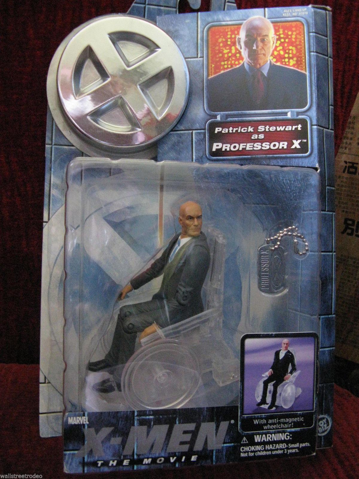 Marvel X-Men Professor X Patrick Stewart anti-magnetic wheelchair action figure