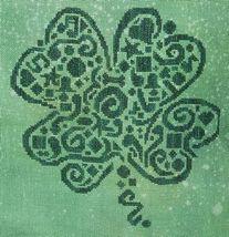 Tribal Shamrock monochrome cross stitch chart White Willow stitching - $7.65