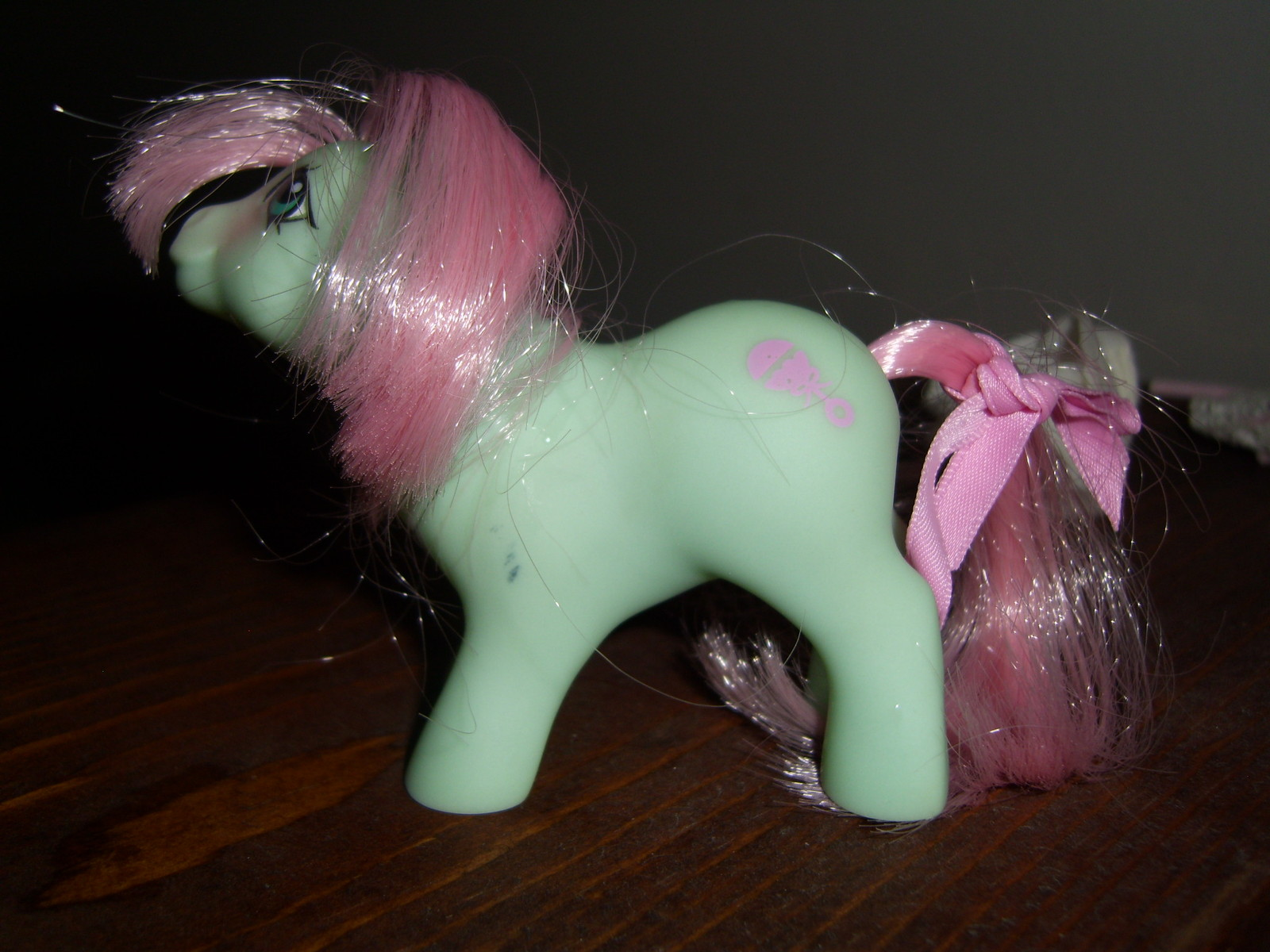 My Little Pony G1 NBBE Baby Cuddles with diaper, bonnet and ribbon image 3