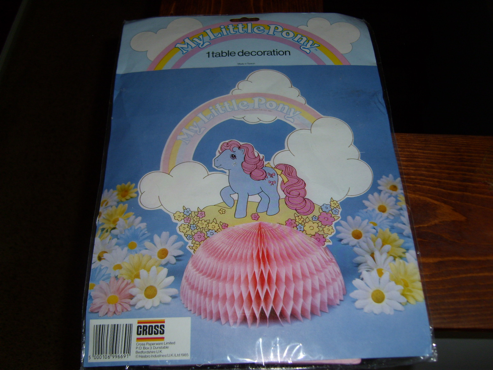 My Little Pony G1 Merchandise MIP Bowtie table decoration
