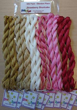 SILK FLOSS PACK Strawberry Shortcake  cross stitch Glendon Place Dinky Dyes