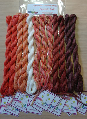 Pumpkin swirl silk pack