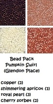 BEAD PACK Pumpkin Swirl cross stitch Glendon Place Dinky Dyes  - $10.40