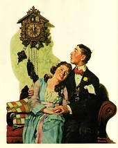 Courting Couple At Midnight 1919 Norman Rockwel... - $8.99