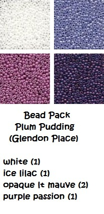 BEAD PACK Plum Pudding cross stitch Glendon Place Dinky Dyes