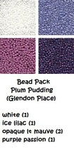 BEAD PACK Plum Pudding cross stitch Glendon Place Dinky Dyes  - $6.50