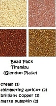 BEAD PACK Tiramisu cross stitch Glendon Place Dinky Dyes  - $7.80