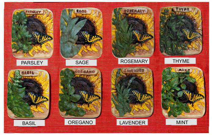 Original Sculpted Hand Painted Herb Garden Markers - Choose Your Herb!