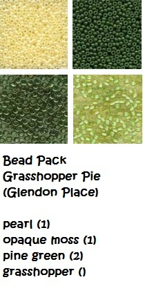 BEAD PACK Grasshopper Pie cross stitch Glendon Place Dinky Dyes