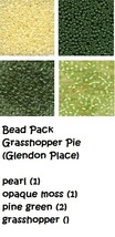 BEAD PACK Grasshopper Pie cross stitch Glendon Place Dinky Dyes  - $7.50