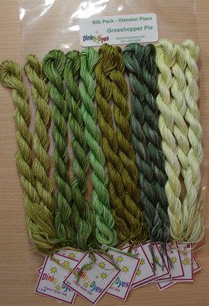 BEAD PACK Grasshopper Pie cross stitch Glendon Place Dinky Dyes  image 3