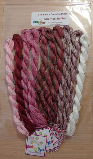 SILK FLOSS PACK Cherries Jubilee cross stitch Glendon Place Dinky Dyes