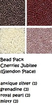 BEAD PACK Cherries Jubilee cross stitch Glendon Place Dinky Dyes  image 1