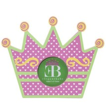 """Elegant Baby Hand Crafted 3"""" x 3"""" Wooden Princess Crown Frame, Royal Chick - $14.99"""