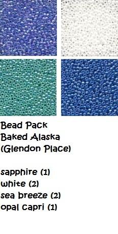 BEAD PACK Baked Alaksa cross stitch Glendon Place Dinky Dyes