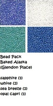 BEAD PACK Baked Alaksa cross stitch Glendon Place Dinky Dyes  - $7.80