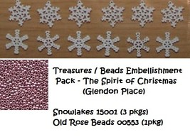 TREASURES BEAD EMB PACK Spirit Of Christmas cross stitch Mill Hill - $11.80