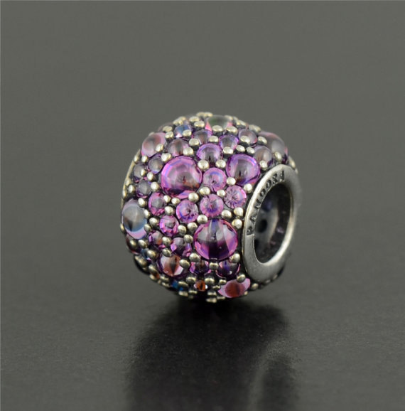 Primary image for Pandora Silver Purple Shimmering Droplets Charm