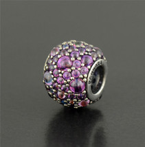 Pandora Silver Purple Shimmering Droplets Charm - $50.00