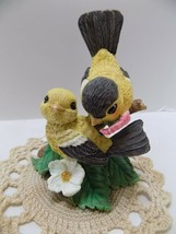 "Garden Romances Are Forever Bird ""FLOWERED WITH LOVE"" COLD CAST RESIN FR... - $13.63"