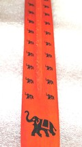 elephant sign screenprinted orange long insence holder ideal for sticks or cones