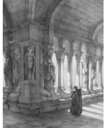 FRANCE Arles Cloister of St. Trophime Interior - SUPERB 1843 Lithograph ... - $31.50