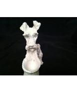 Schnauzer Scotty Dog White Cement Figurine - $9.99
