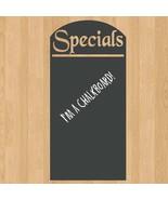 "Menu Board Daily Specials Chalkboard Sign Vinyl Wall Sticker Decal 22""w ... - $34.99"