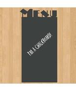 Menu Board II Chalkboard Sign Vinyl Wall Sticker Decal - $19.99