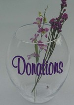 Make your Own DONATIONS or TIPS Jar Vinyl Sticker Decal - $6.99
