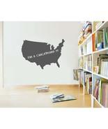 United States of America Chalkboard Vinyl Wall Sticker Decal - $29.99