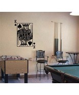 Large KING of SPADES Playing Card Poker Blackjack Vinyl Wall Sticker Decal - $29.99