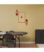 ACE of HEARTS Playing Card Poker Blackjack Vinyl Wall Sticker Decal - $19.99