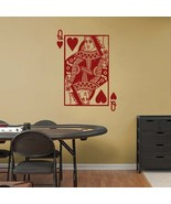 Large QUEEN of HEARTS Playing Card Poker Blackjack Vinyl Wall Sticker Decal - $29.99