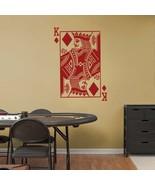 Large KING of DIAMONDS Playing Card Poker Blackjack Vinyl Wall Sticker D... - $29.99