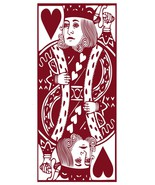Large KING and QUEEN of HEARTS Cornhole Sized Playing Card Vinyl Sticker... - $79.99