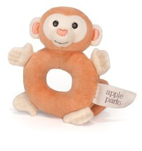 Apple Park Teething Rattle, Monkey [Baby Product] - $12.04