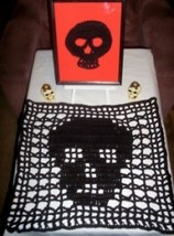 Hand Crochet Skull Table Setting Set - Ready to Ship - Sugar Skull - Day... - $41.25