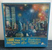Alexander Chen Manhattan Celebration NYC Twin Towers 1,000 Pc Jigsaw Puz... - $34.64