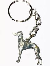 Italian Greyhound Dog Keychain Keyring Harris Pewter Made USA Key Chain ... - $9.48
