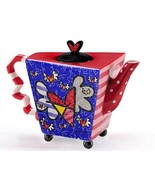"""Romero Britto  """"Flying Heart"""" Teapot  Large 48 oz Size #333218  NEW - $64.99"""