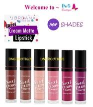 6 New Colors Set Jordana Sweet Cream Matte Liquid Lip Gloss Lipstick Lipgloss - $24.89