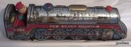 MODERN TOYS 1950s LITHO TRAIN ENGINE TOY 4230 NEW SILVER MOUNTAIN JAPAN - $16.99
