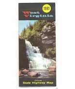 1961 West Virginia Road Map Official early Highway State Interstate - $9.95